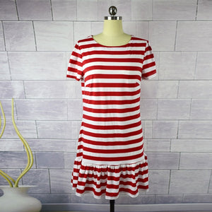 Red Striped Frill Matching Dresses