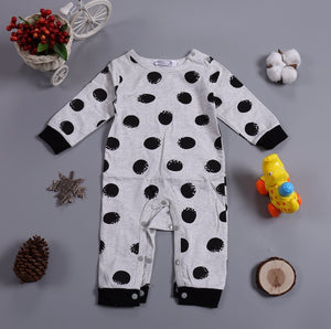 Black Polka Dot Onesie