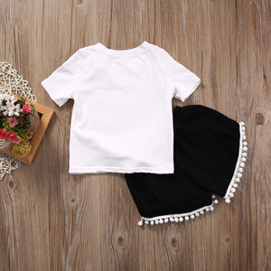 Full Life T-Shirt Pompom Pants Outfit