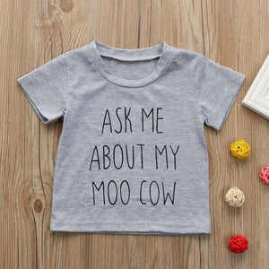 Ask Me About My Moo Cow T-Shirt
