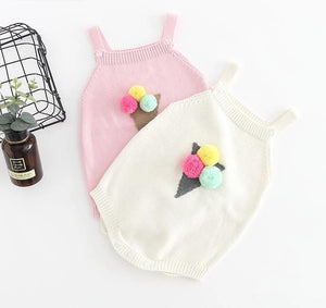Ice-Cream Knitted Romper