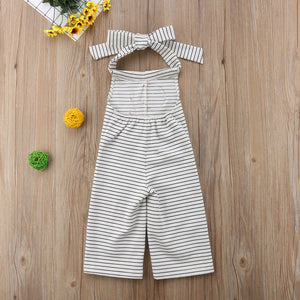 Rose Striped Halter Outfit