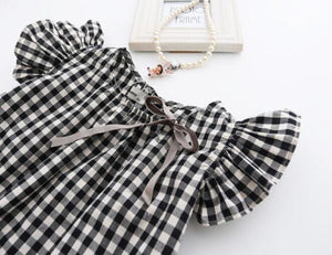 Ruffle Plaid Dress