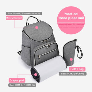 Multipurpose Diaper Bag With USB