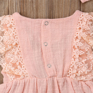 Pink Laced Romper