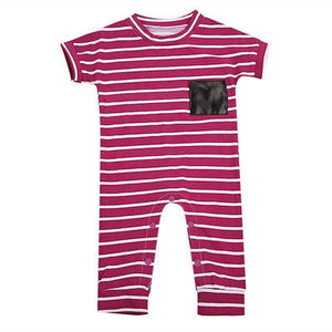 Striped Short-sleeve Onesie