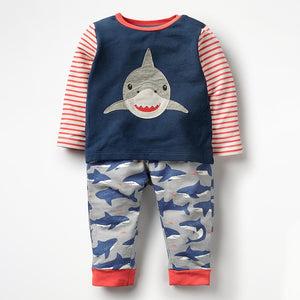 Long-sleeve Shark Set
