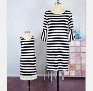 Striped Matching Dresses