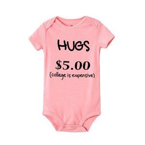 Hugs $5 Onesie (Multiple Colors)