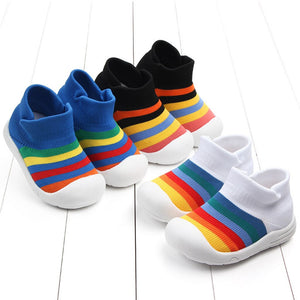 Rainbow Anti-Slip Breathable First Walkers