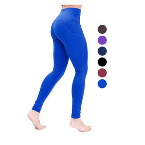 Side Pockets Thickening  Ladies Fitness Pants (autumn and winter)