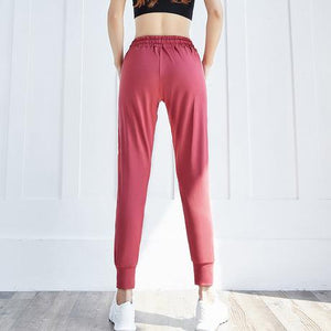 Women Loose Breathable Pocket Sport Pants