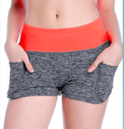 Quick-drying Running Yoga  Shorts with Pockets