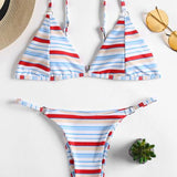 Print Striped Bikini