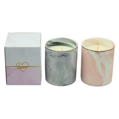 Marbled Ceramic Cup Scented Candle