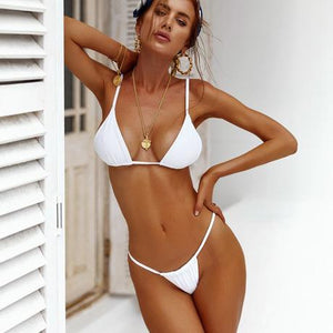 Solid Color Simple Sexy Bikini