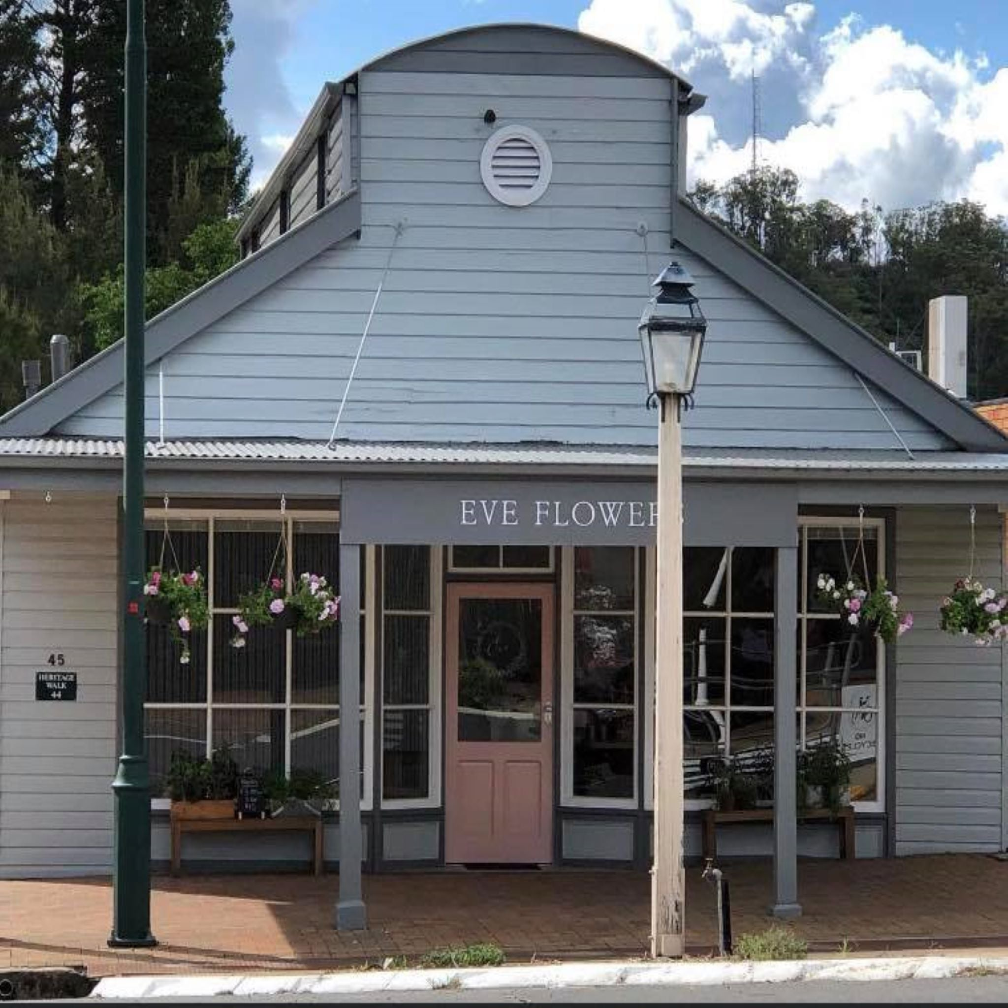 Outside of Florist Shop oppostite White Ivy Gifts Uralla