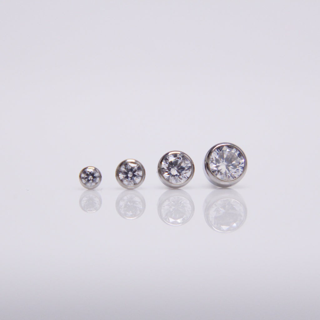 NeoMetal Bezelset Gem Pushpin End