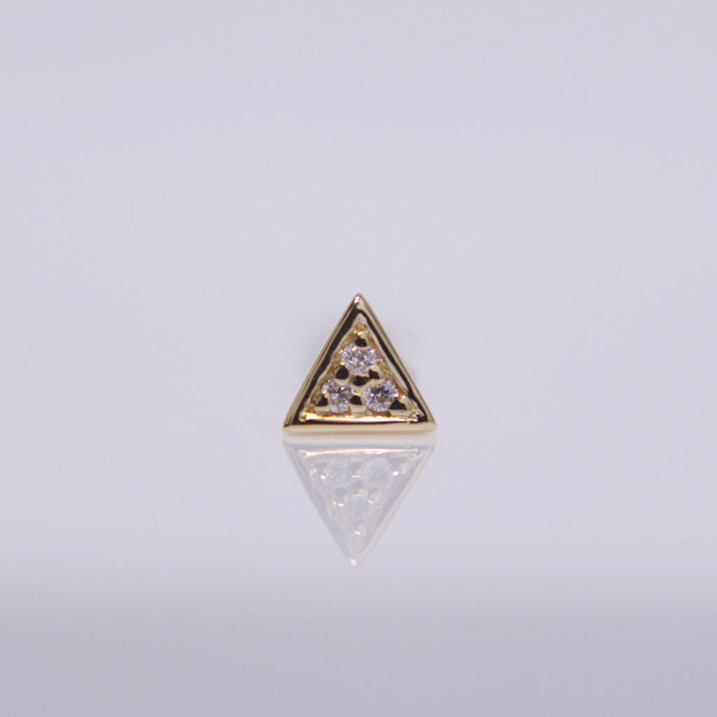 BVLA Micro Pavé Triangle Pushpin End