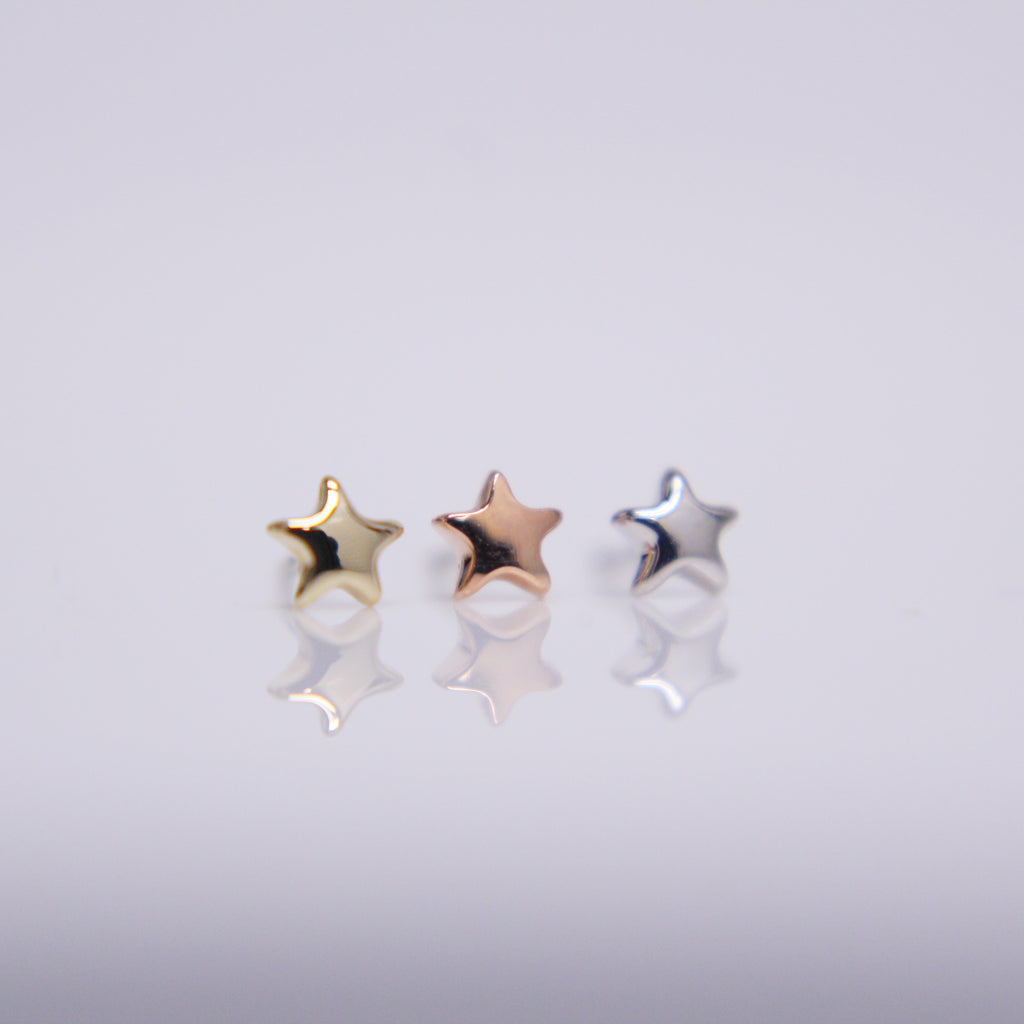 BVLA Tiny Flat Star Pushpin End
