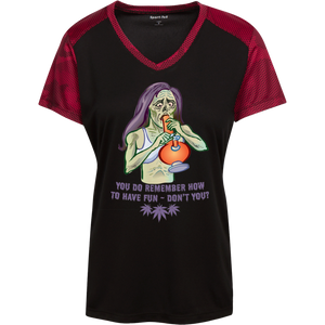 Zombie Gal - You Do Remember how to have fun - Don't You? LST371 Sport-Tek Ladies' CamoHex Colorblock T-Shirt