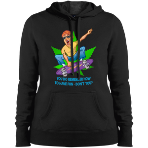 Skater - You Do Remember How To Have Fun Don't You? LST254 Sport-Tek Ladies' Pullover Hooded Sweatshirt