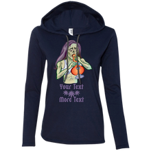 Load image into Gallery viewer, Personalized - Zombie Gal 887L Anvil Ladies' LS T-Shirt Hoodie