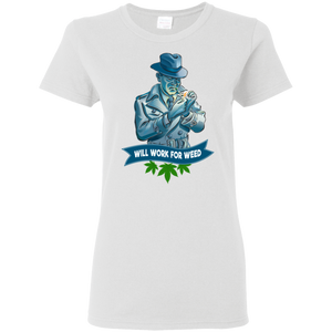 Mike Murphy Fun Detective - Will Work For Weed G500L Gildan Ladies' 5.3 oz. T-Shirt