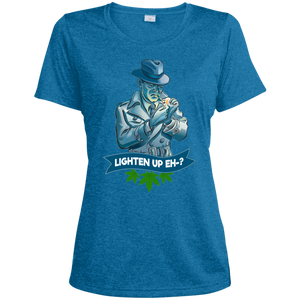 Mike Murphy Fun Detective - Lighten Up Eh? LST360 Sport-Tek Ladies' Heather Dri-Fit Moisture-Wicking T-Shirt