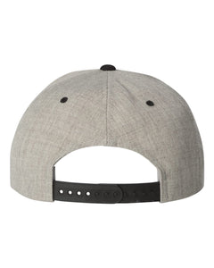 Heather/Black Classics™ Flat Bill Snapback Cap