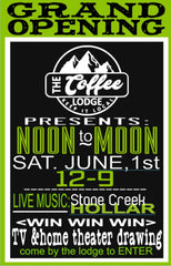 Grand opening June 1 noon to noon best coffee in Statesville