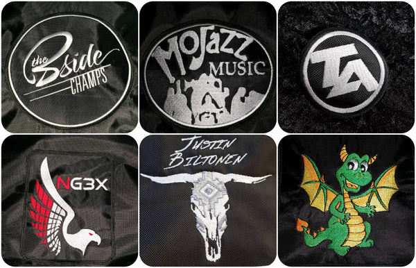 Custom Amp Covers - logo on demand examples - high quality embroidery
