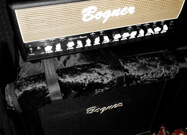 "Custom padded cover w/zippers for BOGNER 412 STH Helios Straight cab 4x12""  open front view"