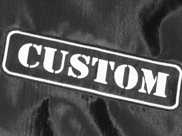 "Custom padded high quality handmade cover for FENDER Supersonic 60 1x12"" combo amp - super sonic embroidered logo close up ""custom"""