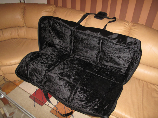 Custom Padded Keyboard and Synth Travel Bag Inside Velvet Interior