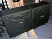Custom padded cover for Mission Engineering KM-212P Slanted cabinet