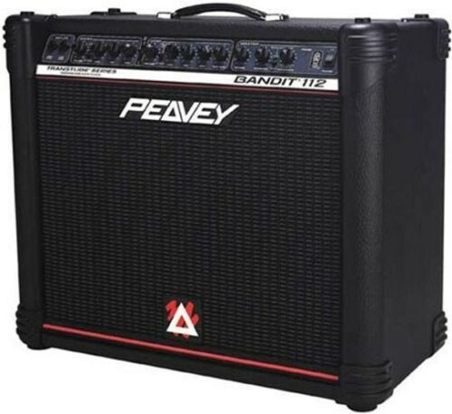 "Custom padded cover for PEAVEY Bandit 112 1x12"" (red stripe) combo amp"