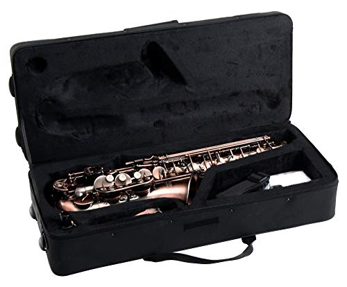 Professional Red Bronze Bend EB E-Flat Alto Saxophone + Gig Bag & Accessories