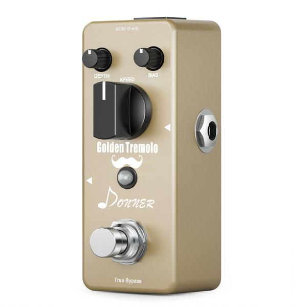 Golden Tremolo Pedal Classic Tremolo Guitar Effect