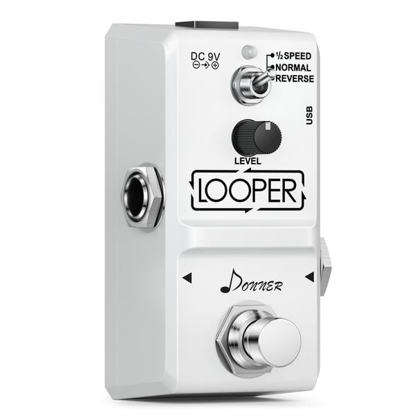 Tiny LOOPER Guitar Effect Pedal (10 minutes of Looping with 3 Modes)