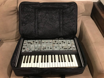 Custom dual-padded BAG soft-case for Roland System 100 Model 101 keyboard
