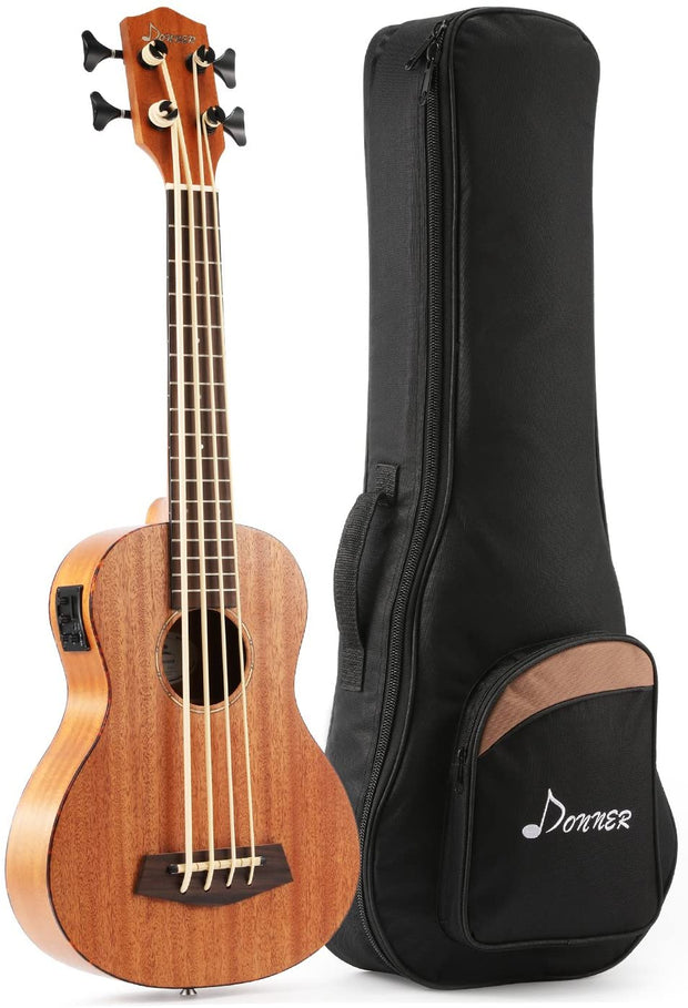 30 Inch Acoustic Electric Bass Ukulele (Mahogany Body) + Gig Bag