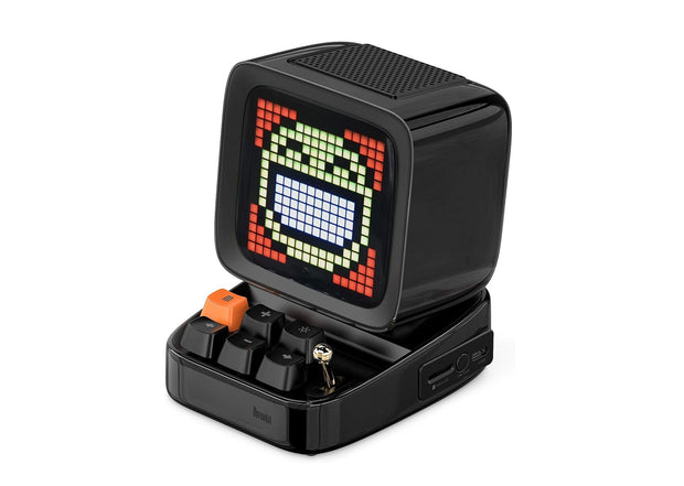 20% OFF - BLACK FRIDAY) Divoom Ditoo Smart Retro Pixel-Art Bluetooth Portable Speaker/Alarm Clock (Black)