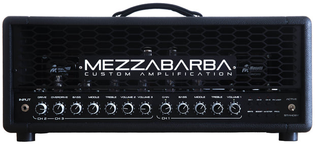 Custom padded cover for Mezzabarba Trinity 50W Head Amp