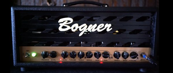 Custom padded cover for BOGNER Shiva 20th KT88 (metal front) Small Box Head Amp