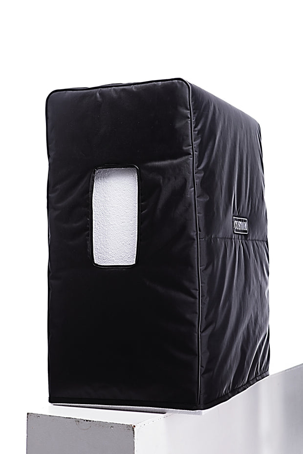 "Custom padded cover for BOGNER 412 ST Straight cab 4x12"" side view side handle opening"