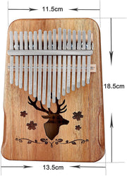 Kalimba Thumb Piano 17 Keys, Topnaca Finger Piano Mbira