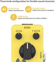 Yellow Fall Analog Delay Guitar Pedal