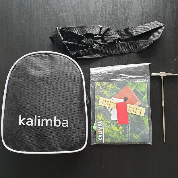 "17 Key KALIMBA with Gig Bag & Accessories by ""Gear Up, Cover Up (GU,CU)"""