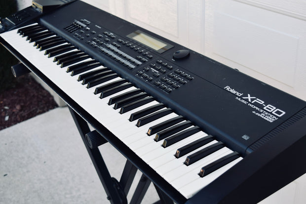 Custom padded cover for Roland XP-80 keyboard